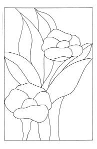 Stained Glass Flower Template